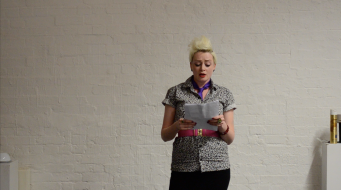 Katherine Araniello, Wheelchair Dependent by SickBitchCrips (2015), performance at Live Art Development Agency, London