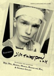 KSKKK flyer featuring Zack McGuinness as Jim Timberpond. Designed by Tom Jackson
