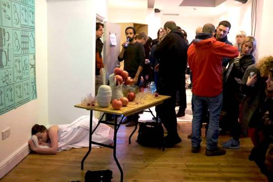 Documentation of InVálid, performance by Laura Dee Milnes, Edge of Human at Los Angeles 2019, London, November 2014, photographed by Sylvain Deleu