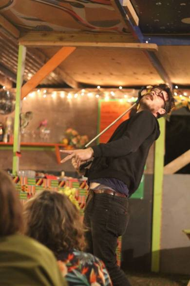 Angus Braithwaite performs at Your New Local, Supernormal (2015). Photo by Yvonne Carmichael