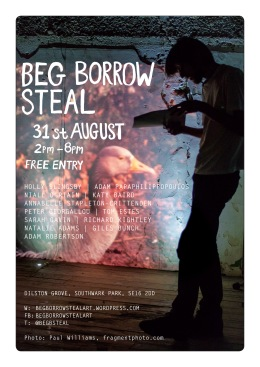 BBS#2 flyer by Sarah Gavin, image by Paul Williams 2013