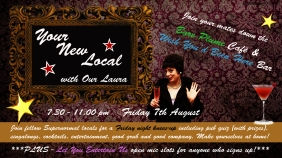 Flyer for Your New Local with Our Laura at Supernormal (2015)