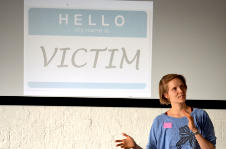 Playing the Victim, a workshop by Laura Dee Milnes and Katherine Araniello (2016)