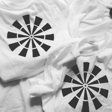 Original handmade screen-printed t-shirts. Edition of 3.