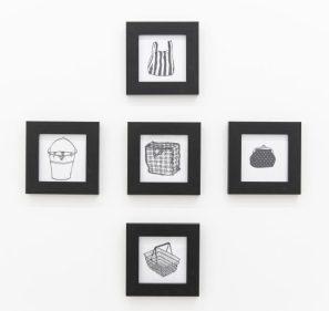 Laura Dee Milnes, Plastic Bag, Purse, Basket, Bucket, Laundry Bag (2018).