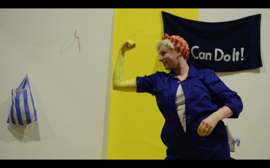 Laura Dee Milnes, Right and important, performance still (2018)