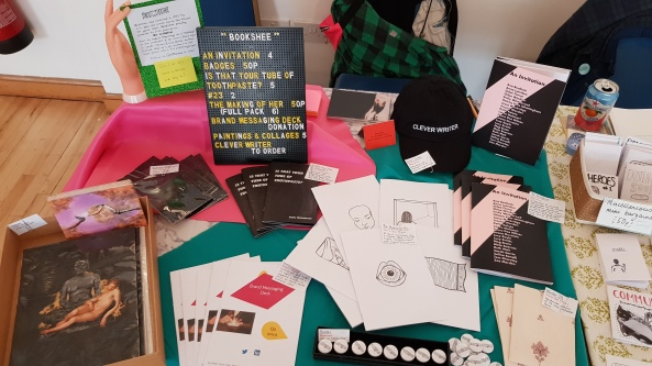 Bookshee at Sheffield Zine Fest, May 2019