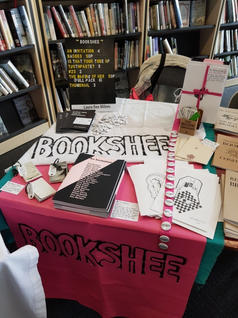 Bookshee at Bradford Zine Fair, June 2019