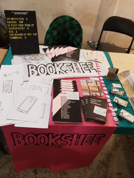Bookshee at DIY Space for London Summer Zine Fair, July 2019